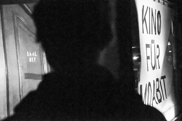 Bild zeigt Impression in schwarz-weiß vom Straßenkino