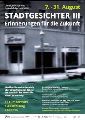 Plakat zur Reihe Stadtgesichter III