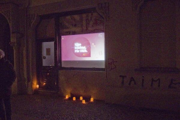 Unser Kino leuchtet - öffentliche Aktion